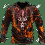Skull And Dragon All Over Print Shirts