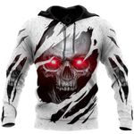 Red Eyes Skull All Over Print Shirts