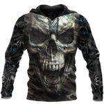 Crazy Camo Skull All Over Print Shirts