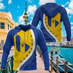 Barbados Map Generation All Over Print Hoodies