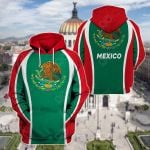 Coat Of Arms Of Mexico All Over Print Hoodies
