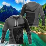 Hawaii Hula Girl Polynesian Sport - Premium Style All Over Print Hoodies