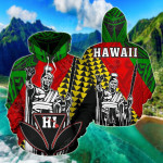 Hawaii Kanaka Maoli Cover Kakau Polynesian King All Over Print Hoodies