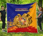 Armenia Coat Of Arms Premium Quilt