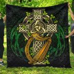 Ireland Coat Of Arms with Celtic Cross Premium Quilt