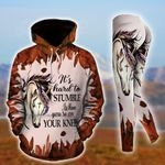 Horse - It's Hard To Stumble When You're On The Knees Pullover Hoodie Or Legging