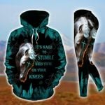 Horse - It's Hard To Stumble When You're On The Knees Ver02 Pullover Hoodie Or Legging