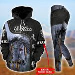 Customize Love Horse Native American Pullover Hoodie Or Legging