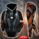 Customize Black Horse Pullover Hoodie Or Legging