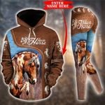 Customize Horse Lovers - Native American Pullover Hoodie Or Legging