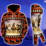 Horse Riding Native American Pullover Hoodie Or Legging