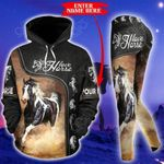 Customize Love Horse Riding Pullover Hoodie Or Legging