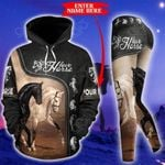 Customize Horse Riding Couple Pullover Hoodie Or Legging
