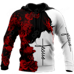 Christian Jesus Catholic Red Roses All Over Print Shirts
