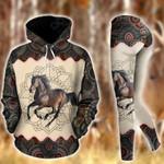 Horse Riding Mandala Pullover Hoodie Or Legging