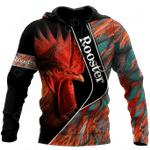 Rooster 3D Feathers All Over Print Shirts