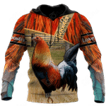 Love Rooster All Over Print Shirts