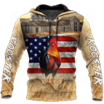 Rooster US Flag All Over Print Shirts