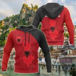 Albania Map Special All Over Print Hoodies