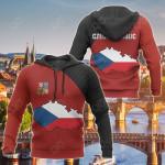 Czech Republic Map Special All Over Print Hoodies