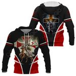Knight Templar Lion All Over Print Hoodies