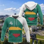 Lithuania Map Special All Over Print Hoodies