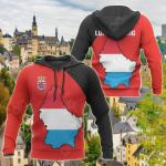 Luxembourg Map Special All Over Print Hoodies
