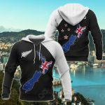New Zealand Map Special All Over Print Hoodies