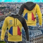 Romania Map Special All Over Print Hoodies