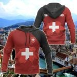 Switzerland Map Special All Over Print Hoodies