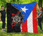 Puerto Rico Flag -Taino Sun Premium Quilt