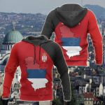 Serbia Map Special All Over Print Hoodies