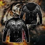 Tiger Black All Over Print Hoodies