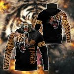 Tiger All Over Print Neck Gaiter Hoodie