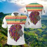 Ethiopia - Ethiopian Color Lion Pattern All Over Print Polo Shirt