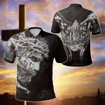Jesus Grunge Style All Over Print Polo Shirt