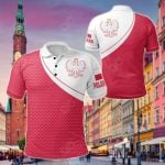 Poland - Polish Eagle With Flag Color All Over Print Polo Shirt
