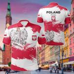 Poland Flag Brush All Over Print Polo Shirt