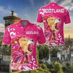 Scotland Pink Lion All Over Print Polo Shirt