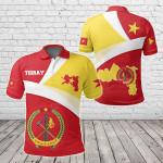 Tigray Flag Maps Red All Over Print Polo Shirt