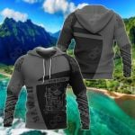Hawaii King Coat Of Arms Polynesian Sport Premium Style All Over Print Hoodies