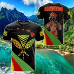 Hawaii Kanaka Warrior All Over Print T-shirt