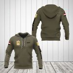 Custom Name Egypt Coat Of Arms Hoodies