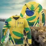 Brasil Athletic Spirit All Over Print Hoodies