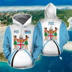 Fiji Flag Coat Of Arms Sports Style All Over Print Hoodies