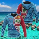 Fiji Tapa Pattern All Over Print Hoodies