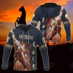 Horse Lovers All Over Print Hoodies