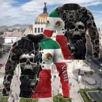 Customize Mexican Red Eyes Screaming Skull All Over Print Hoodies