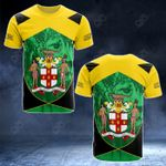Jamaica Coat Of Arms And Lion All Over Print T-shirt
