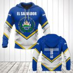El Salvador Coat Of Arms Lucian Style All Over Print Hoodies